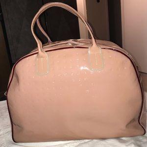 Arcadia Pink Genuine Patent Leather Duffle Bag